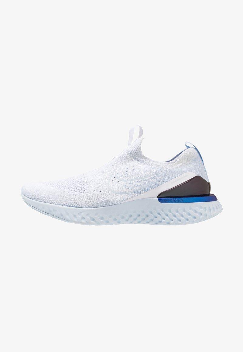 Nike Performance - EPIC PHANTOM REACT FK - Neutral running shoes - white/hydrogen blue/blue tint