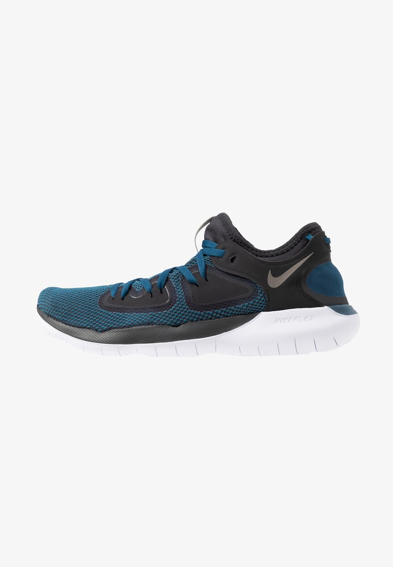 Nike Performance - FLEX 2019 RN - Zapatillas running neutras - off noir/metallic pewter/blue force/light current blue/white