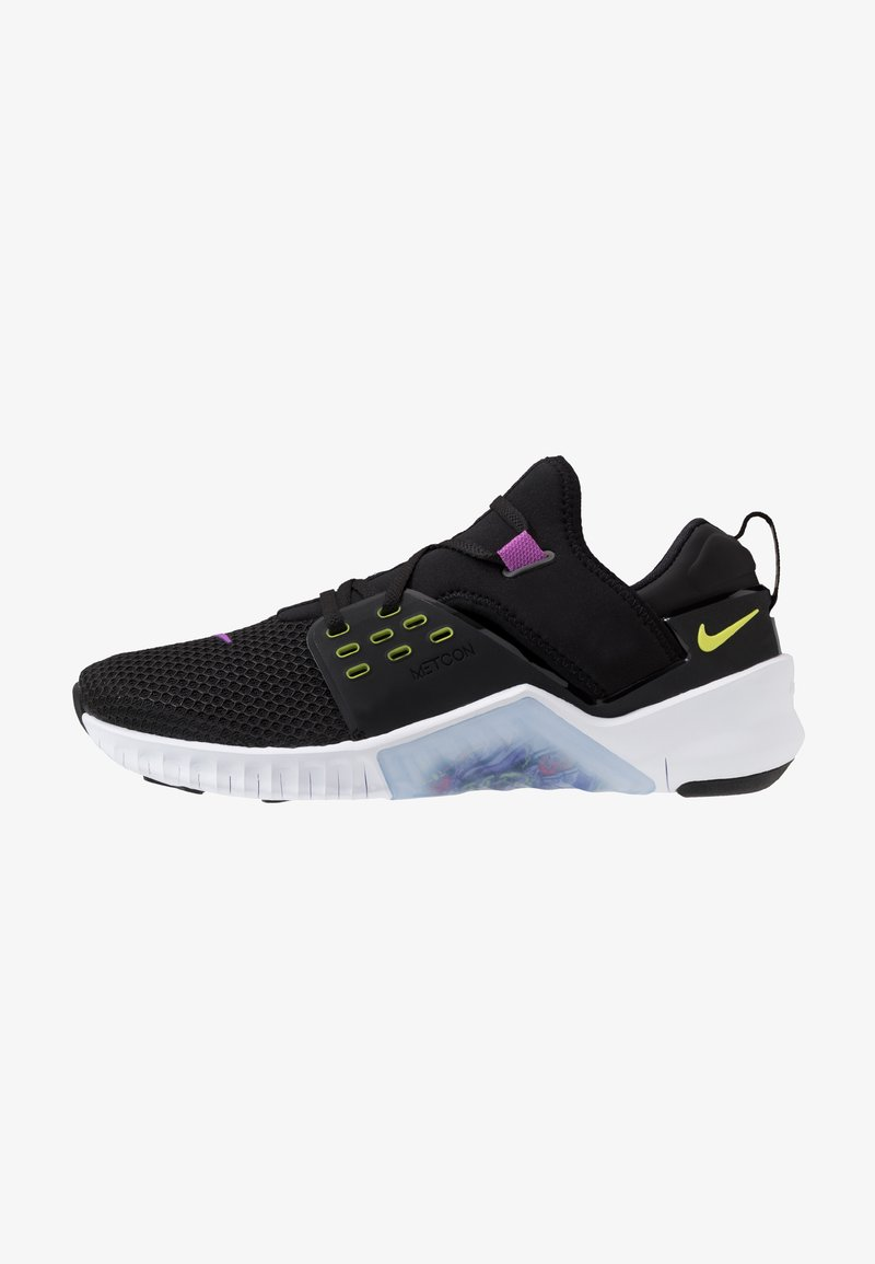 Nike Performance - FREE METCON 2 - Minimalist running shoes - black/bright cactus/purple/white
