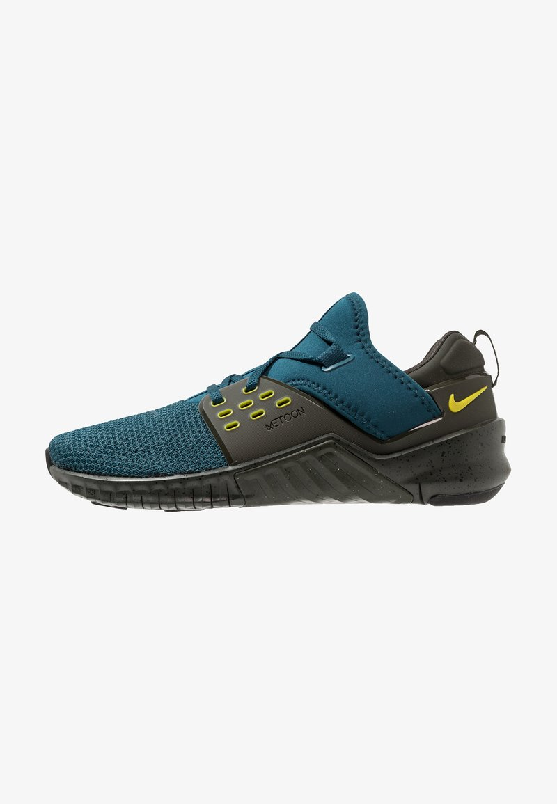 Nike Performance - FREE METCON 2 - Træningssko - nightshade/bright citron/sequoia