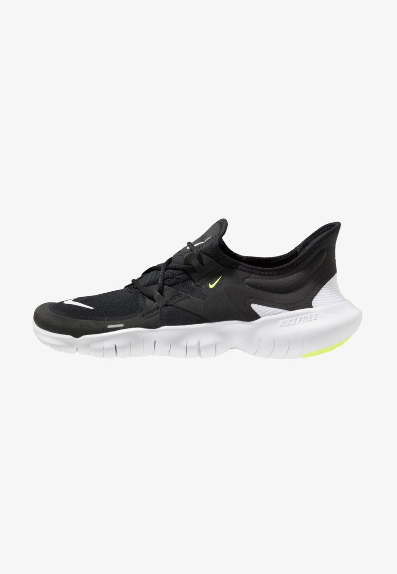 Nike Performance - FREE RN 5.0 - Minimalist running shoes - black/white/anthracite/volt
