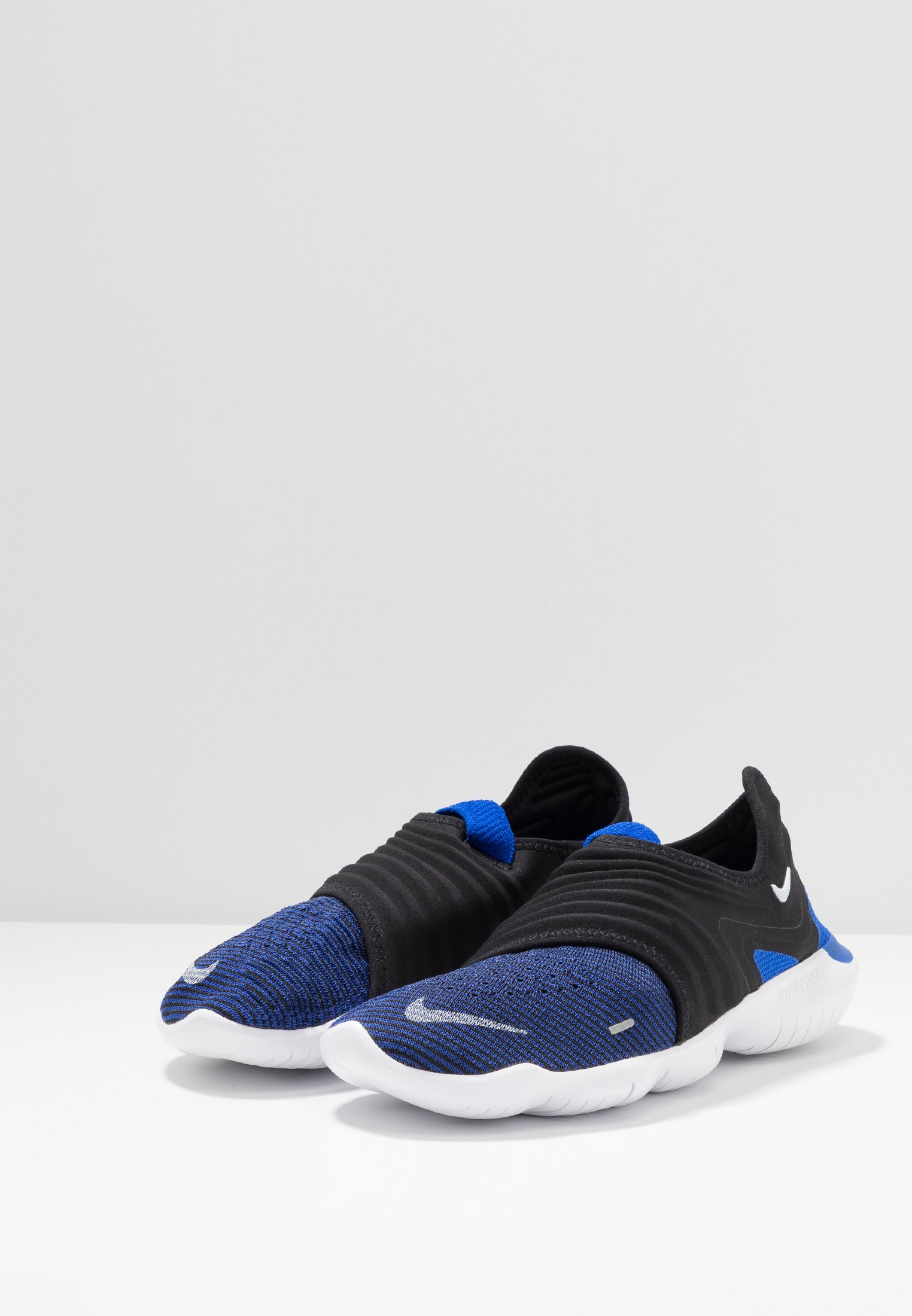Free Racer Nike black white 3 Blue Rn Performance Flyknit De 0Chaussures Course Neutres f67bgy