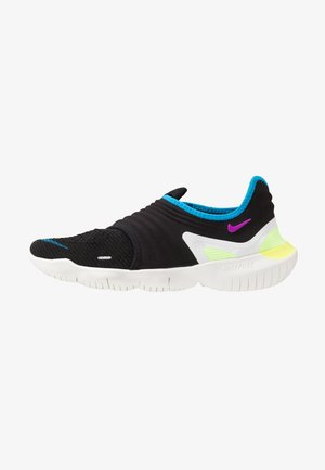 FREE RN FLYKNIT 3.0 - Minimalist running shoes - black/hyper violet/laser orange
