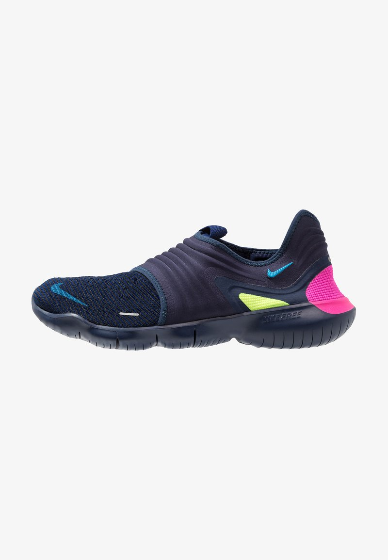Nike Performance - FREE RN FLYKNIT 3.0 - Løbesko - midnight navy/volt/blue hero