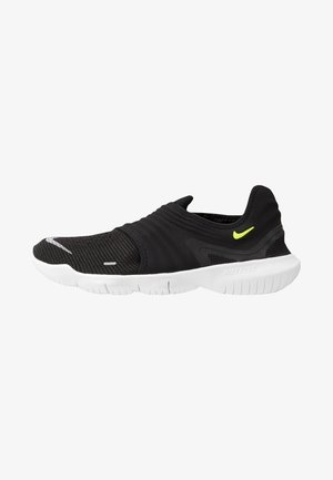 FREE RN FLYKNIT 3.0 - Minimalist running shoes - black/volt/white
