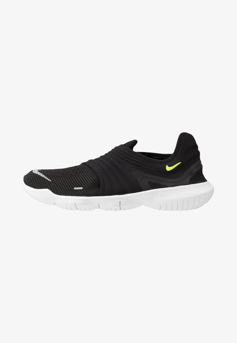 Nike Performance - FREE RN FLYKNIT 3.0 - Trainers - black/volt/white