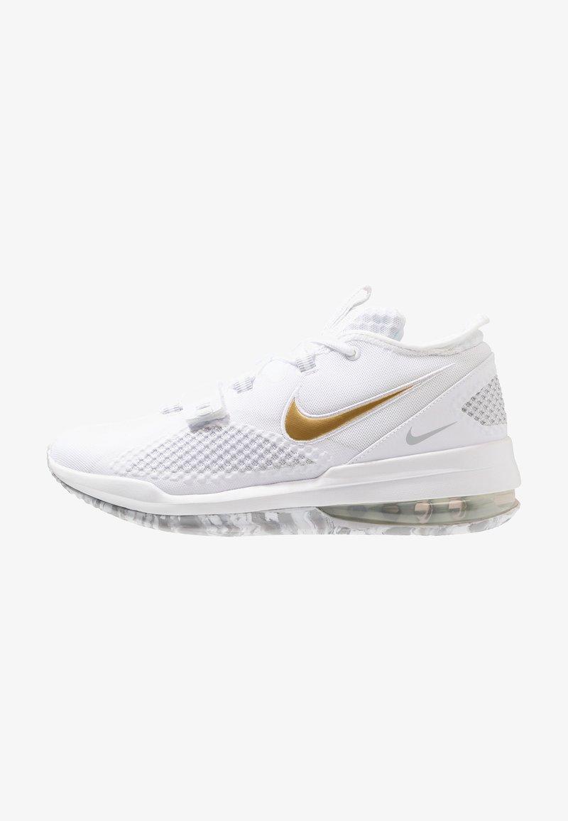 Nike Performance - AIR FORCE MAX LOW - Chaussures de basket - white/black/volt