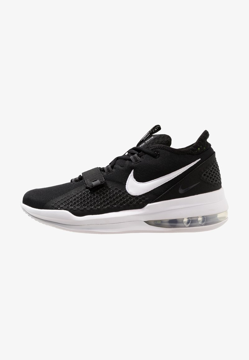 Nike Performance - AIR FORCE MAX LOW - Basketbalschoenen - black/white/volt