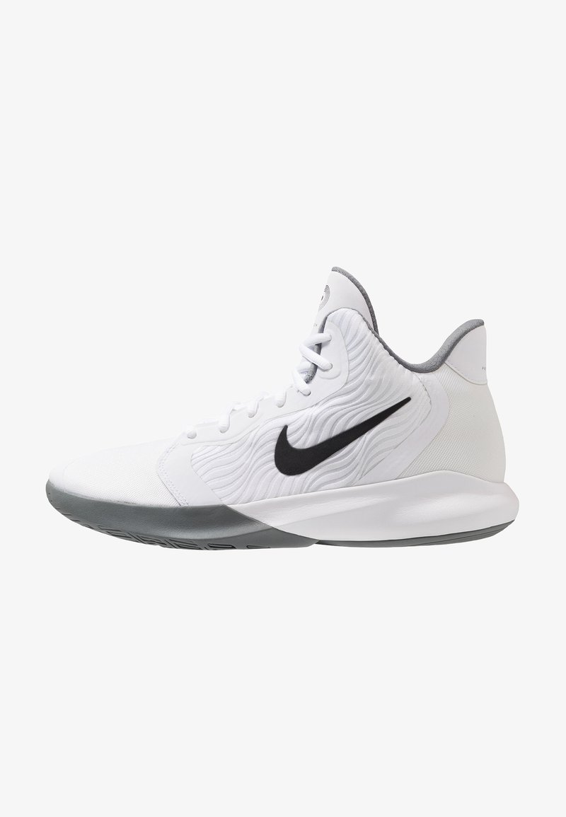 Nike Performance - PRECISION III - Basketballschuh - white/black