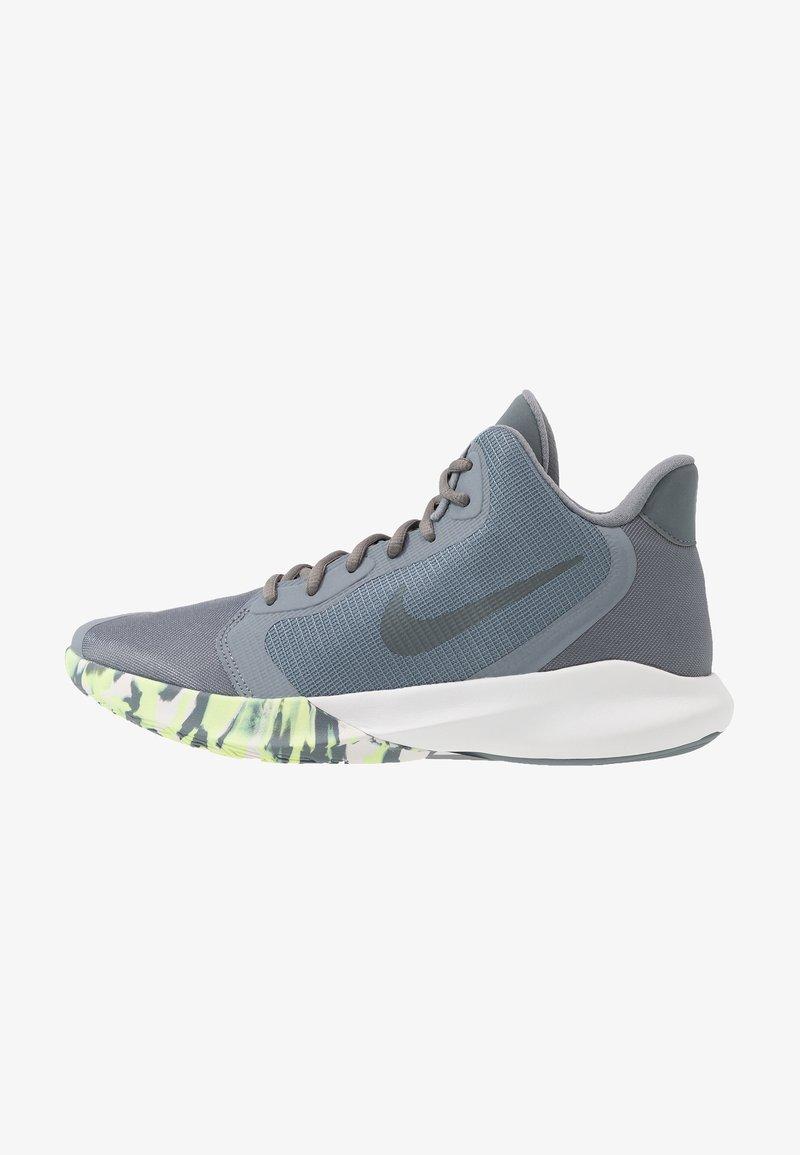 Nike Performance - PRECISION III - Basketbalové boty - cool grey/dark grey/platinum tint/lab green