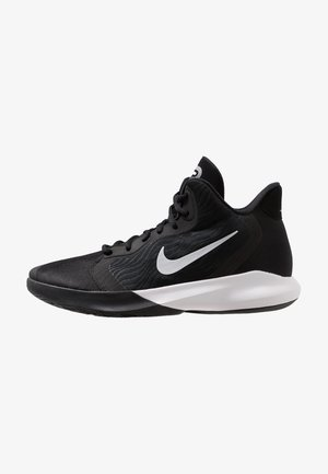 PRECISION III - Basketball shoes - black/white