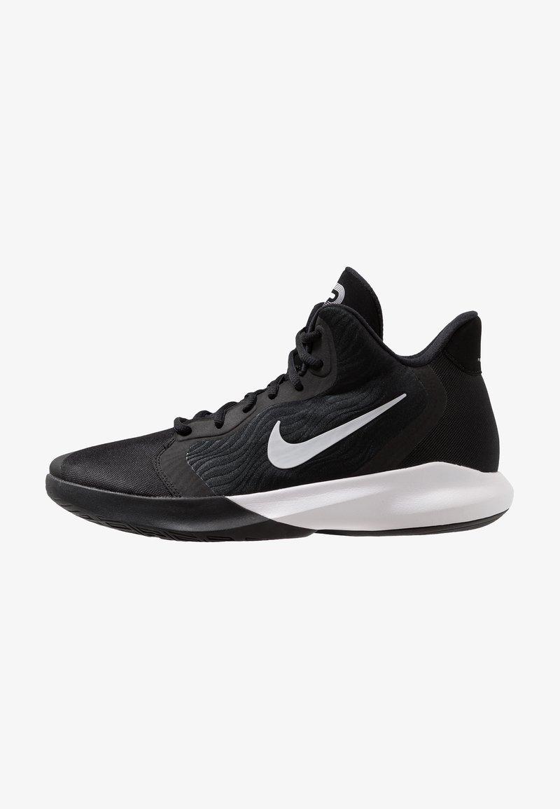 Nike Performance - PRECISION III - Basketball shoes - black/white