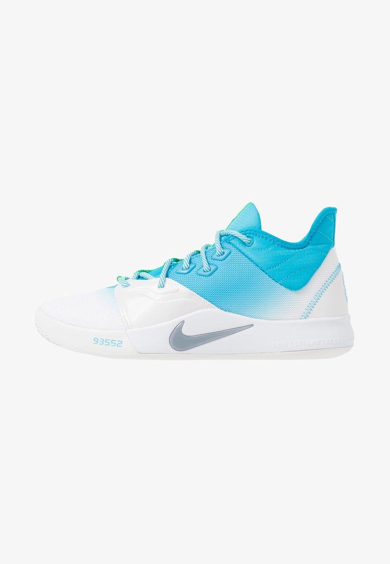 Nike Performance - PG 3 - Basketbalové boty - platinum tint/light current blue/lime blast