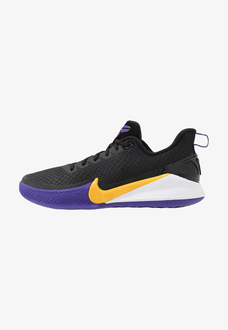 Nike Performance - MAMBA FOCUS - Obuwie do koszykówki - black/amarillo/field purple/white
