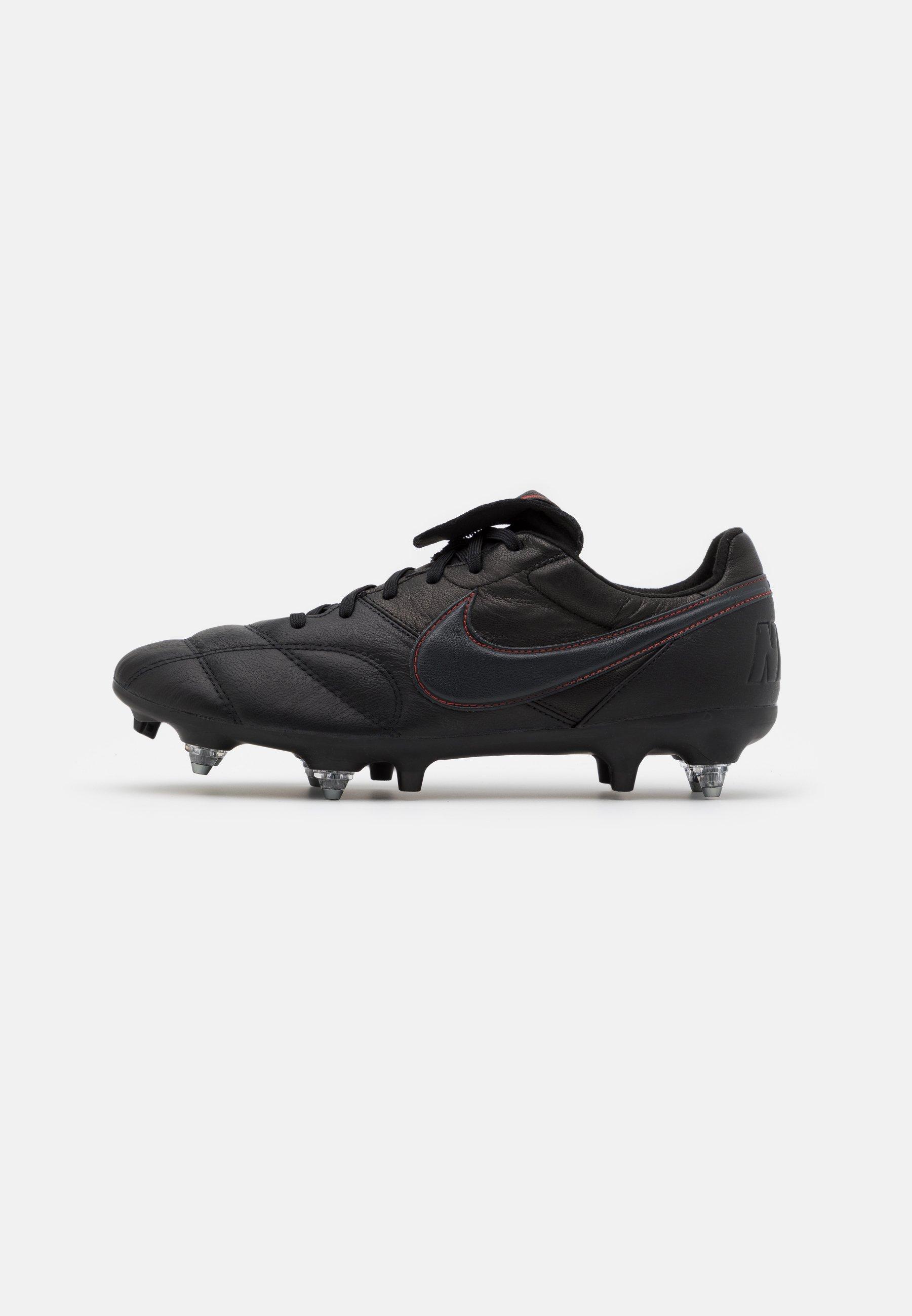 THE PREMIER II SG PRO AC Chaussures de foot à lamelles blackdark smoke greychile red