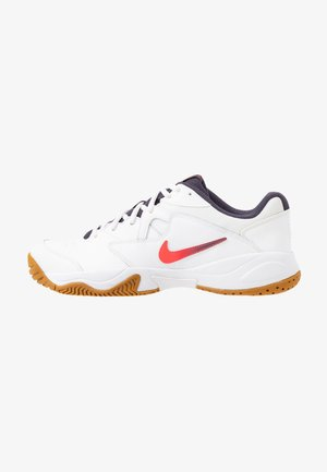 LITE - All court tennisskor - white/laser crimson/gridiron/wheat
