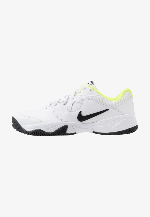 COURT LITE 2 - Scarpe da tennis per tutte le superfici - white/black/volt