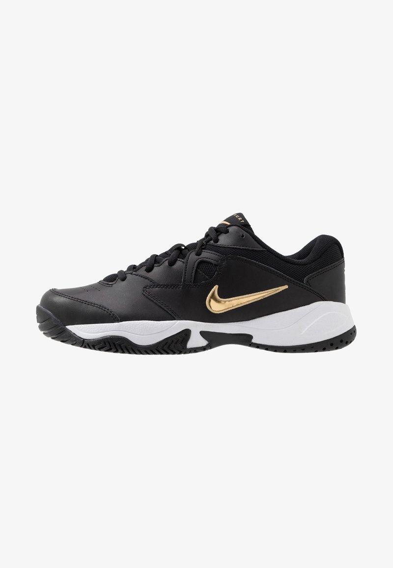 Nike Performance - LITE - Allcourt tennissko - black/metallic gold/white