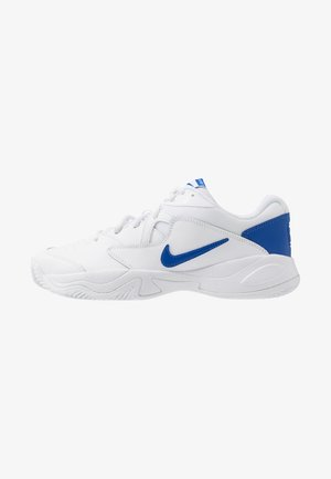 COURT LITE 2 - Tennisskor för grus - white/game royal/flash crimson