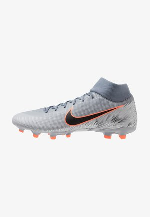 MERCURIAL 6 ACADEMY FG/MG - Chaussures de foot à crampons - armory blue/black/wolf grey/hyper crimson