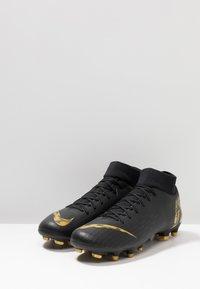 Nike Performance - MERCURIAL 6 ACADEMY FG/MG - Kopačky lisovky - black/metallic vivid gold - 2
