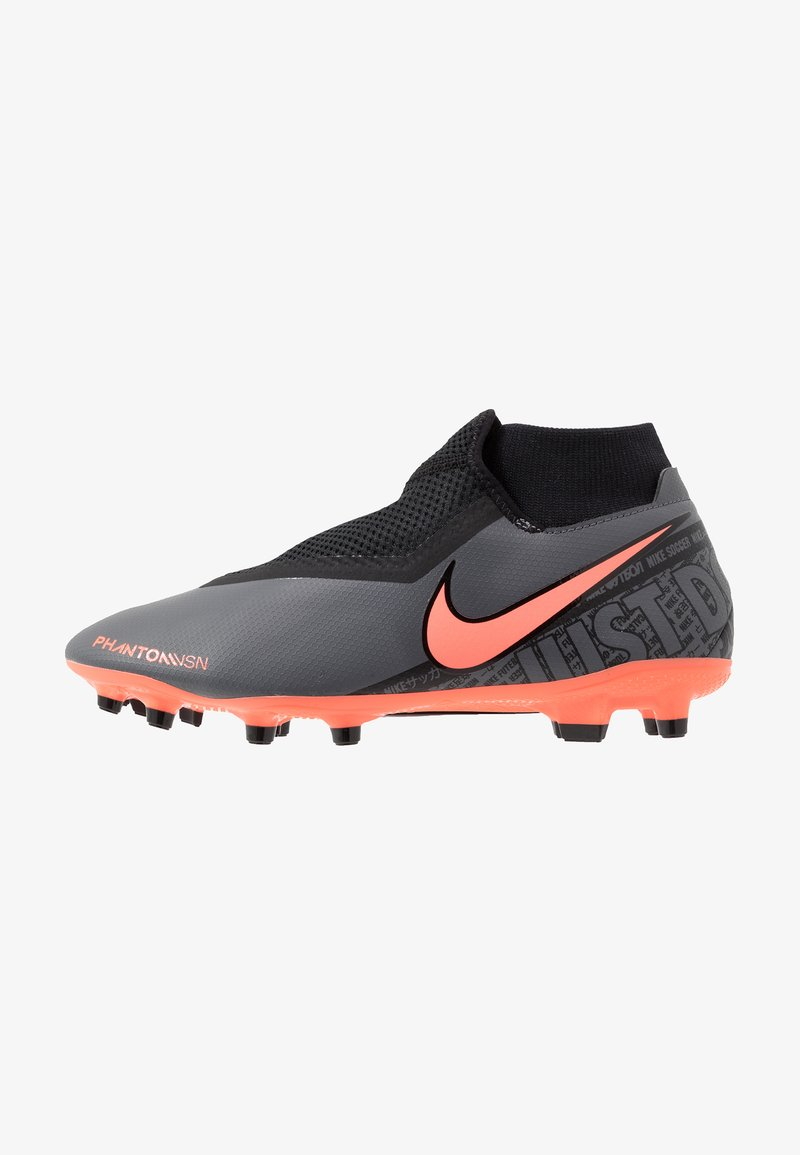 Nike Performance - PHANTOM VSN ACADEMY DF FG/MG - Voetbalschoenen met kunststof noppen - dark grey/bright mango/black