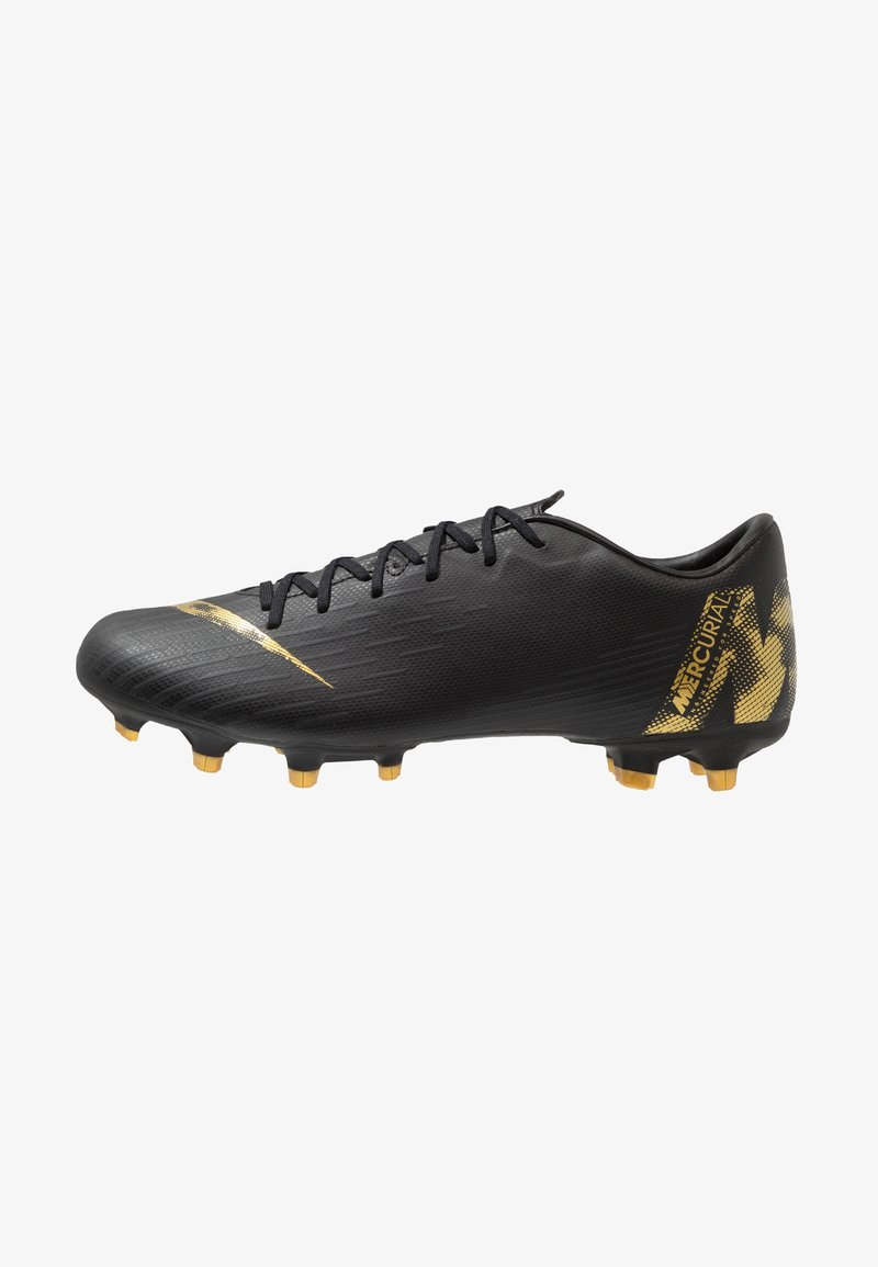 Nike Performance - MERCURIAL VAPOR 12 ACADEMY FG/MG - Fotbollsskor fasta dobbar - black/metallic vivid gold