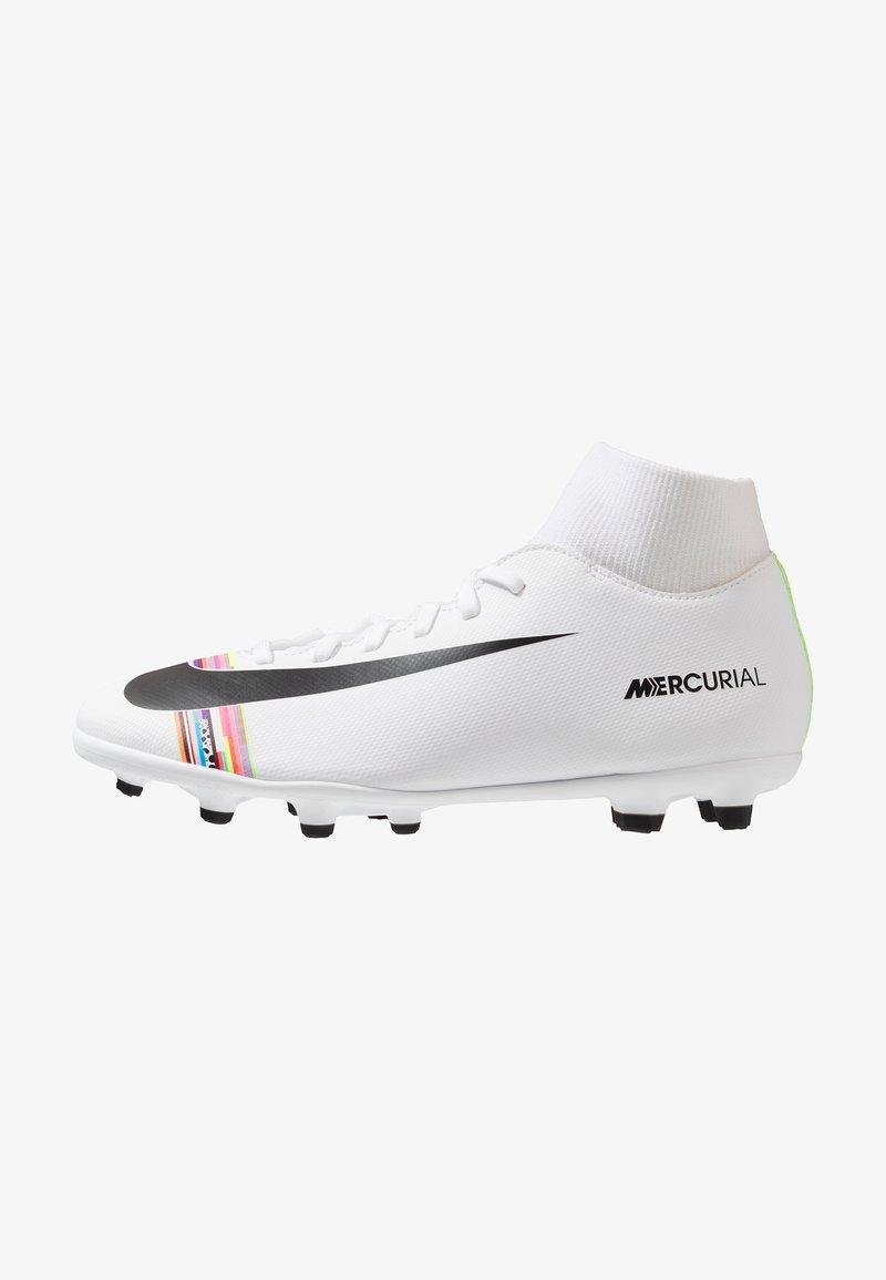 Nike Performance - MERCURIAL 6 CLUB FG/MG - Fotbollsskor fasta dobbar - white/black