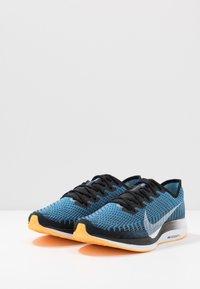 Nike Performance - ZOOM PEGASUS TURBO 2 - Neutral running shoes - black/white/university blue/laser orange - 2