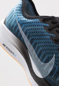 Nike Performance - ZOOM PEGASUS TURBO 2 - Neutral running shoes - black/white/university blue/laser orange - 6