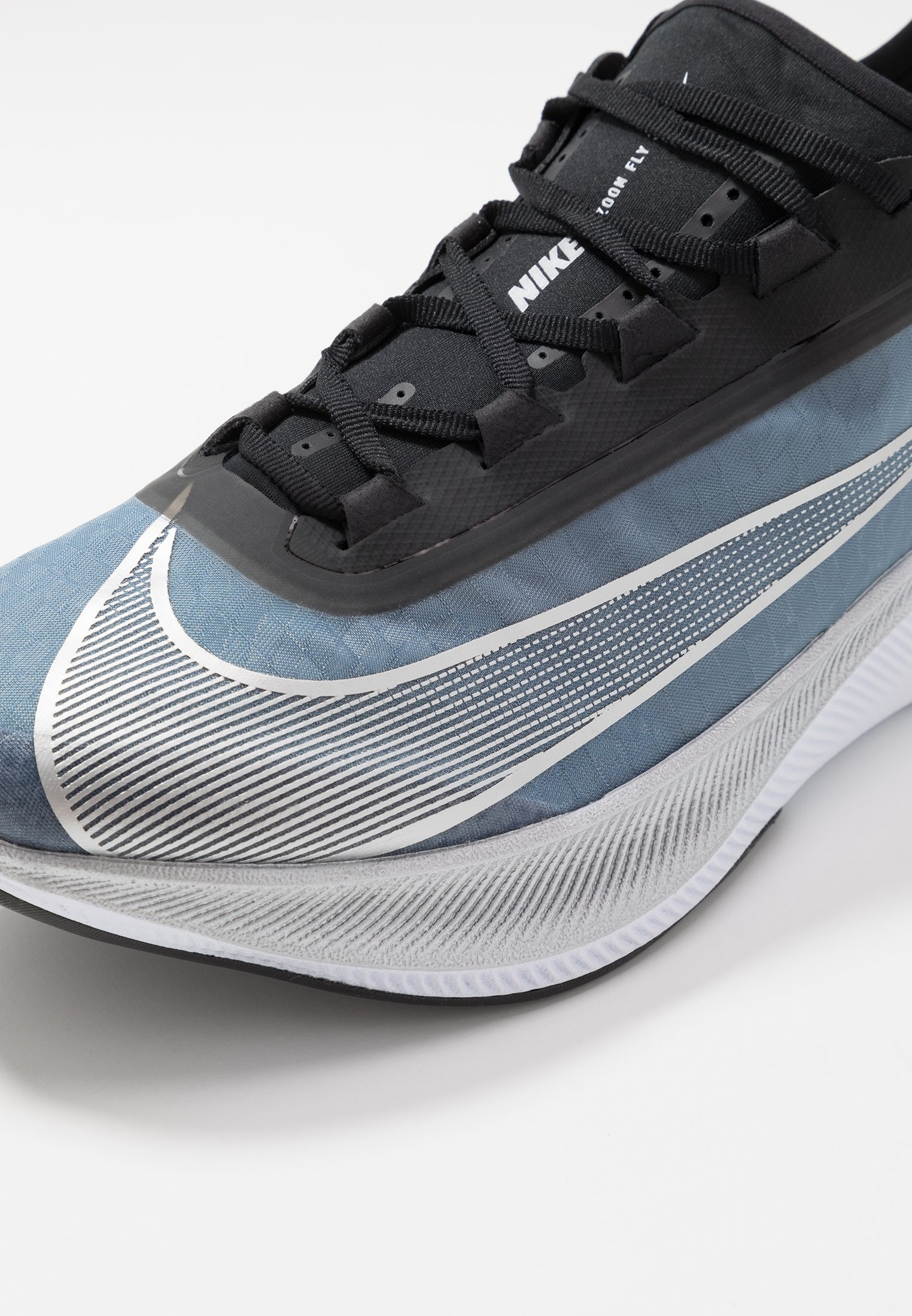 Nike Performance Zoom Fly 3 - Chaussures De Running Neutres Coastal Blue/metallic Silver/black/white
