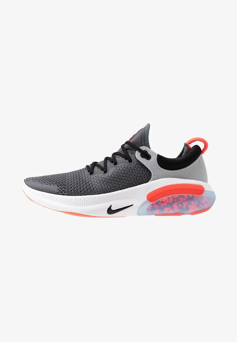 Nike Performance - JOYRIDE RUN FLYKNIT - Neutral running shoes - dark grey/bright crimson/pure platinum