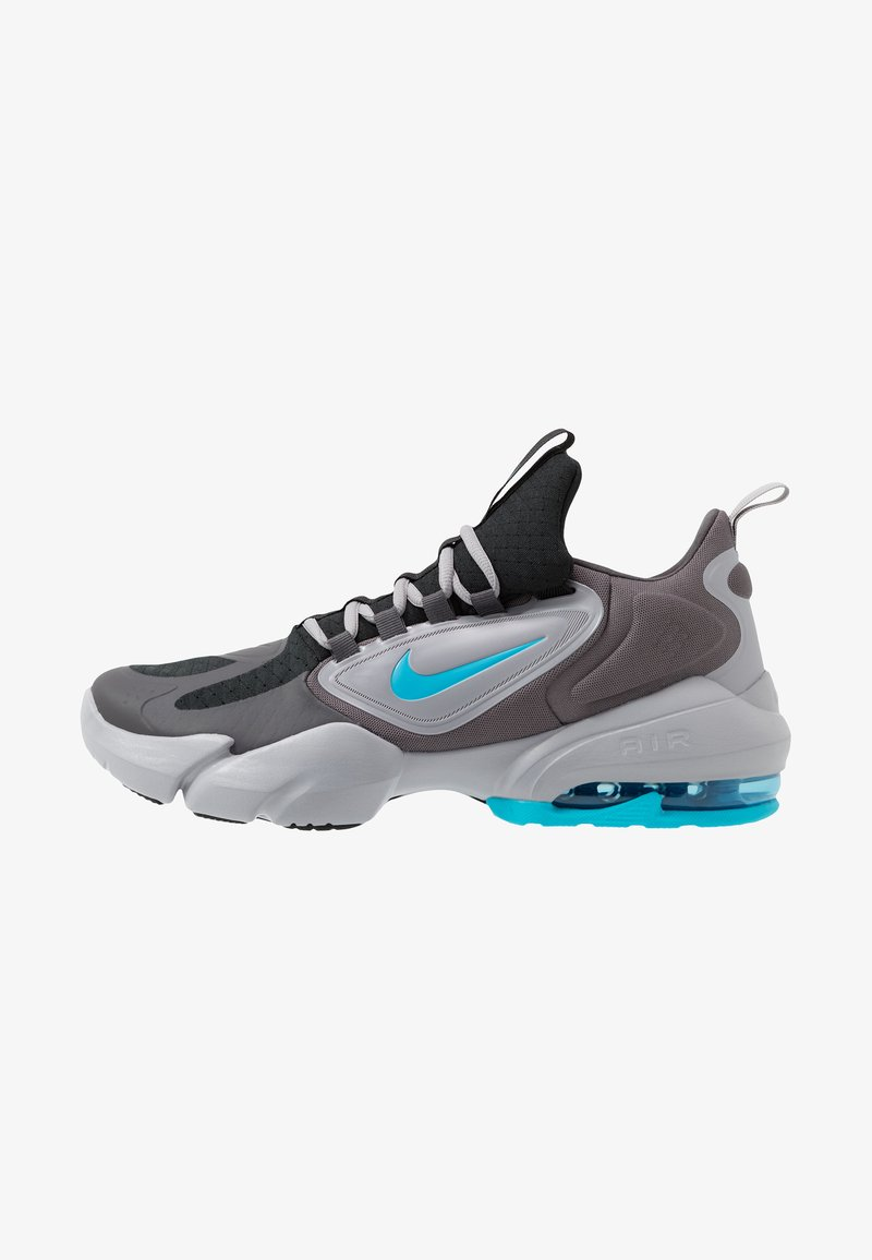 Nike Performance - AIR MAX ALPHA SAVAGE - Sports shoes - black/light current blue/thunder grey