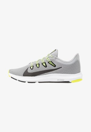 QUEST 2 - Neutral running shoes - light smoke grey/black/barely volt/volt