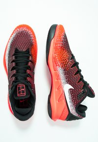 Nike Performance - AIR ZOOM VAPOR X - Multicourt tennis shoes - black/white/dark grey/hot lava/wolf grey - 1