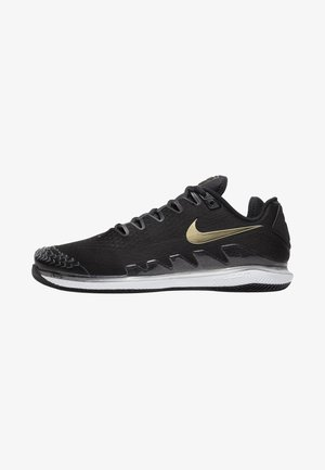 AIR ZOOM VAPOR X - Buty tenisowe uniwersalne - black/white/metallic gold