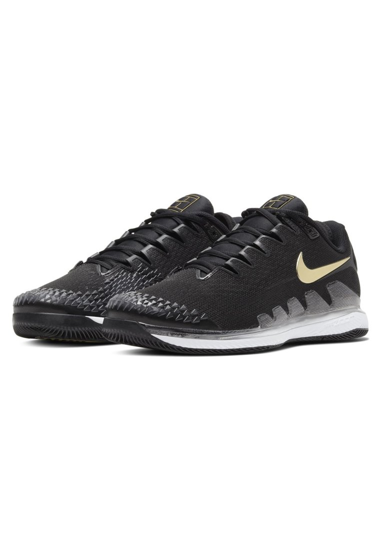 AIR ZOOM VAPOR X All court tennisskor blackwhitemetallic gold