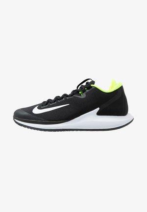 COURT AIR ZOOM - All court tennisskor - black/white/volt