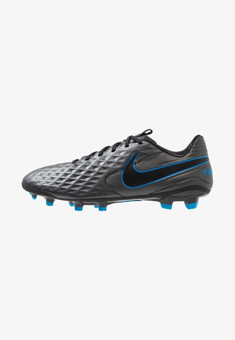 Nike Performance - LEGEND 8 ACADEMY FG/MG - Moulded stud football boots - black/blue hero