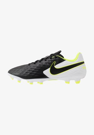 TIEMPO LEGEND 8 ACADEMY FG/MG - Moulded stud football boots - black/white/volt