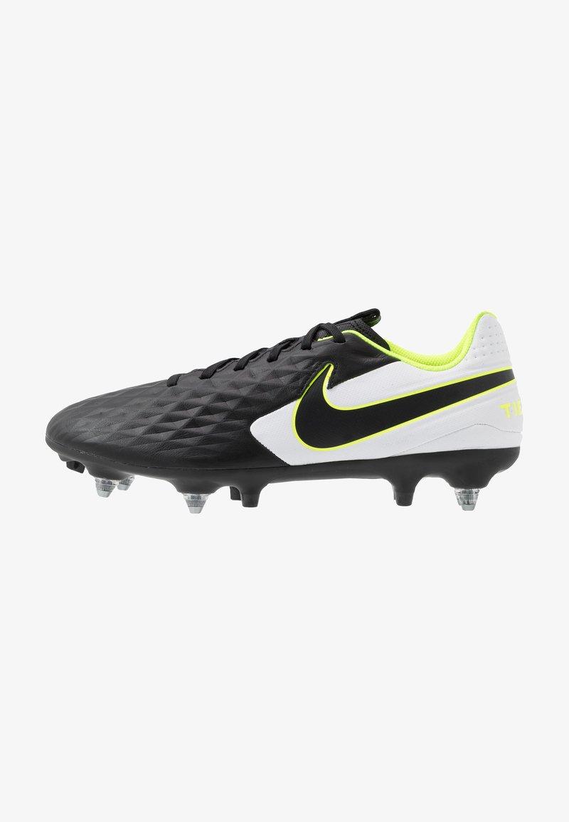 Nike Performance - TIEMPO LEGEND 8 ACADEMY SG-PRO AC - Voetbalschoenen met metalen noppen - black/white/volt