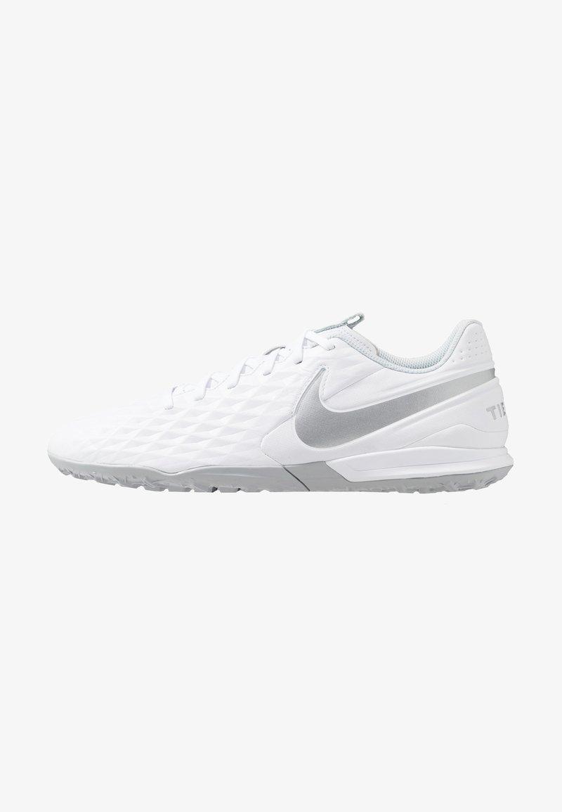 Nike Performance - LEGEND 8 ACADEMY TF - Astro turf trainers - white/chrome/pure platinum/metallic silver