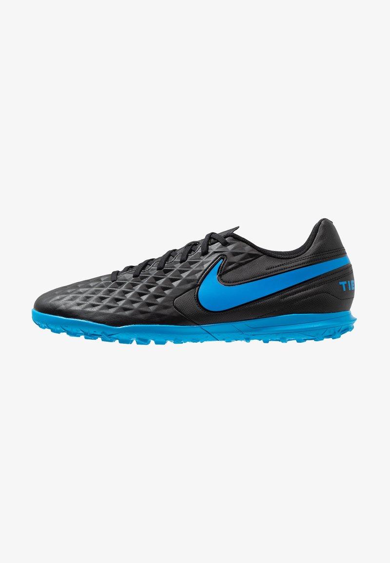 Nike Performance - LEGEND 8 CLUB TF - Astro turf trainers - black/blue hero