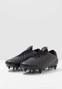 Nike Performance - TIEMPO LEGEND 8 ELITE SG-PRO AC - Fotbolsskor skruvdobbar - black/white/volt - 2