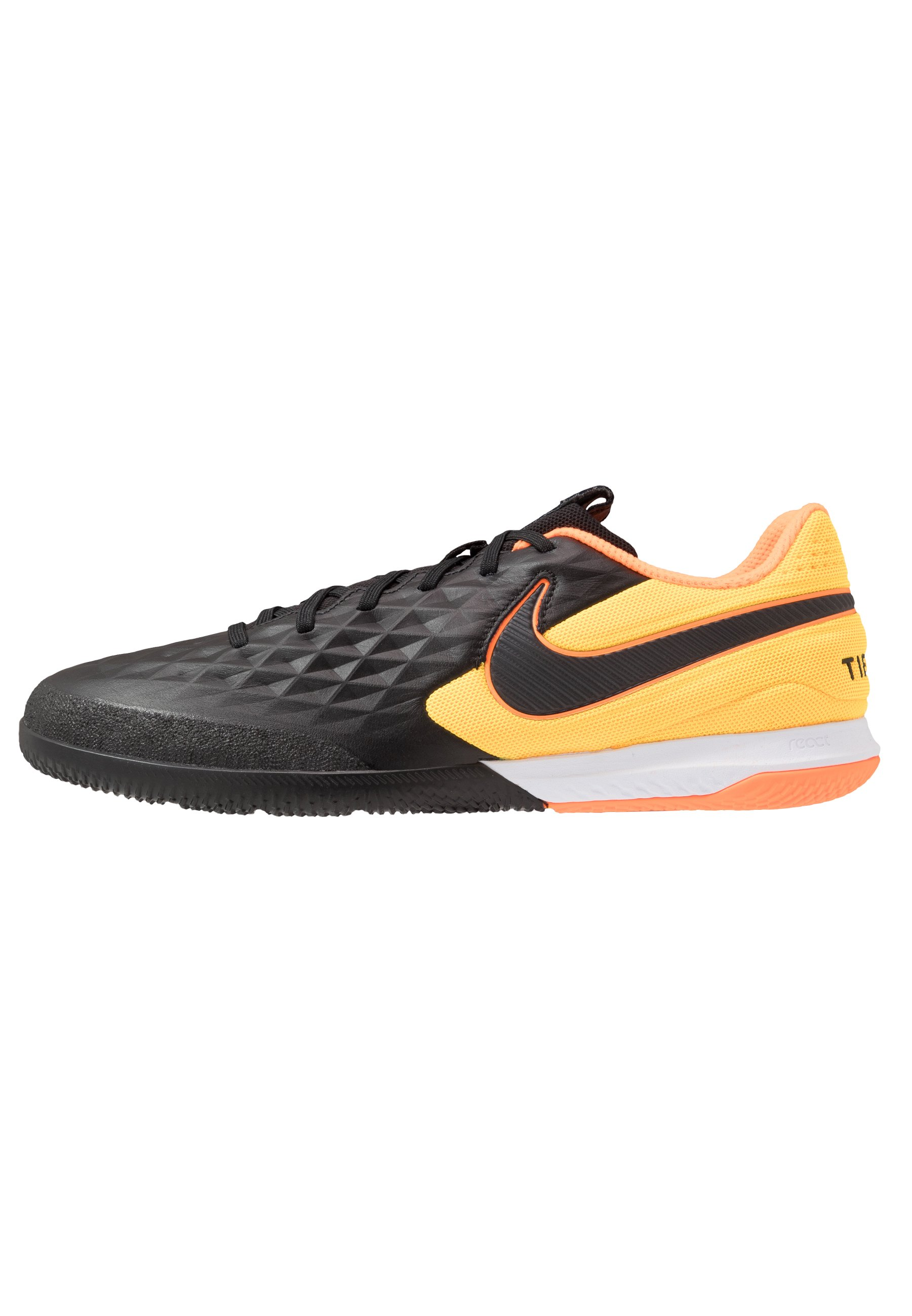 NIKE REACT TIEMPO LEGEND 8 PRO IC FUSSBALLSCHUH FÜR HALLEN UND HARTPLÄTZE Chaussures de foot en salle blacklaser orange