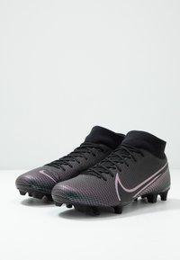 Nike Performance - MERCURIAL ACADEMY FG/MG - Voetbalschoenen met kunststof noppen - black - 3