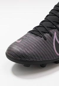 Nike Performance - MERCURIAL 7 CLUB FG/MG - Voetbalschoenen met kunststof noppen - black - 5
