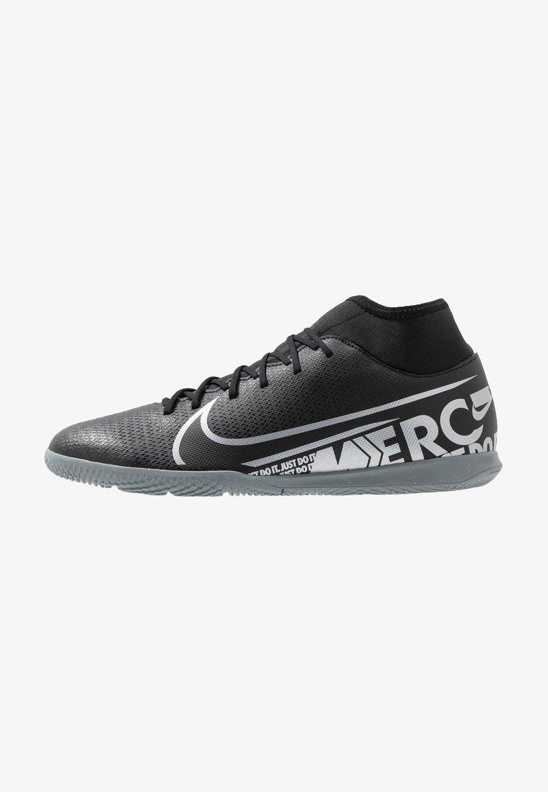 Nike Performance - 7 CLUB IC - Indoor football boots - black/metallic cool grey/cool grey