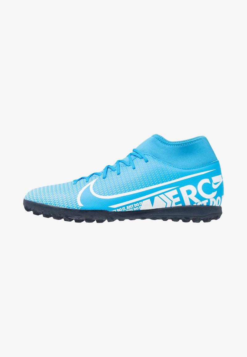 Nike Performance - 7 CLUB TF - Fodboldstøvler m/ multi knobber - blue hero/white/obsidian