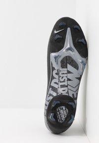 Nike Performance - 7 PRO FG - Tekonurmikengät - black/metallic cool grey/cool grey - 4